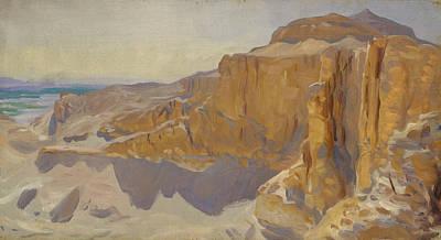 Painting - Cliffs At Deir El Bahri, Egypt by John Singer Sargent
