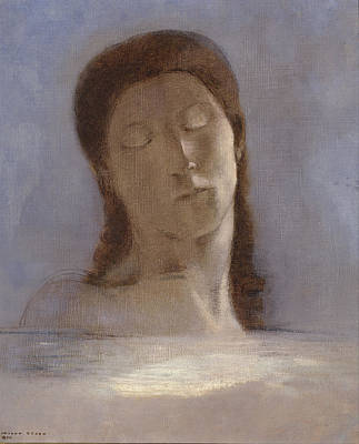 Painting - Closed Eyes by Odilon Redon