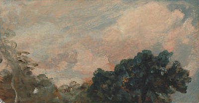 1776 Painting - Cloud Study With Trees by John Constable