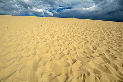 Clouds Over The Great Dune Of Pyla On The Bassin D'arcachon Art Print