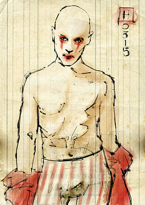 Clown Art Print by H James Hoff