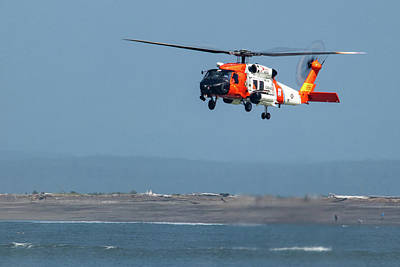 Photograph - Coast Guard Helicopter by Lost River Photography