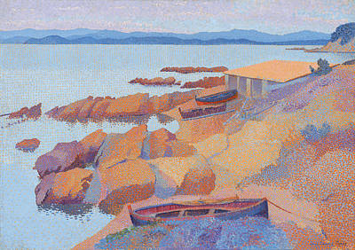 Painting - Coast Near Antibes by Henri Edmond Cross