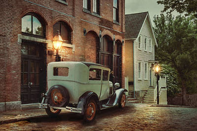 Print featuring the photograph Cobblestone Streets by Robin-Lee Vieira