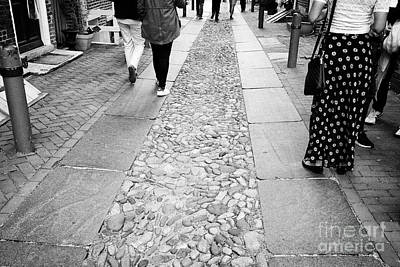 Elfreths Alley Photograph - cobblestones on elfreths alley in the old city of Philadelphia USA by Joe Fox