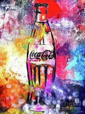 American Food Mixed Media - Coca-cola by Daniel Janda