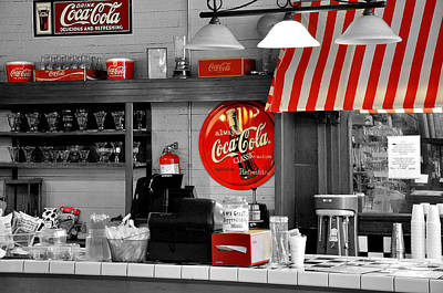 Sign Photograph - Coca Cola by Todd Hostetter