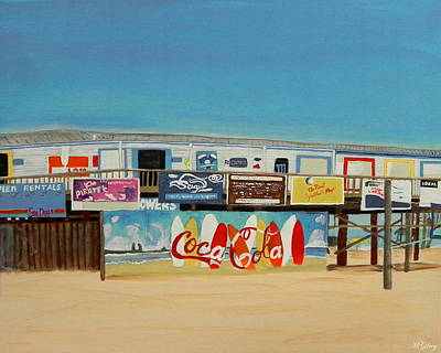 Gods Sunshine Art Painting - Cocoa Beach/cape Canaveral Pier by MGilroy