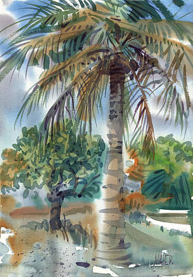 St. Croix Painting - Coconut Palm by Donald Maier