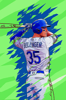Los Angeles Dodgers Digital Art - Cody Bellinger by Anna J Davis