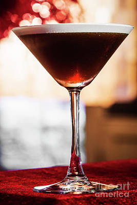 Martini Royalty-Free and Rights-Managed Images - Coffee Espresso Cream Martini Cocktail Drink Glass  by Jacek Malipan