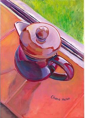 Painting - #2 Coffee Pot by Chana Helen Rosenberg