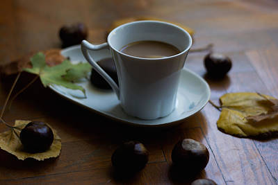 Photograph - Coffee With Milk For Cold Autumn Days by Newnow Photography By Vera Cepic