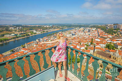 Photograph - Coimbra Aerial Woman by Benny Marty