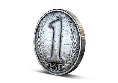 Earnings Digital Art - Coin Number One by Allan Swart