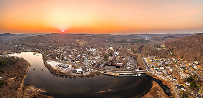 Colinsville, Connecticut Sunrise Panorama Art Print