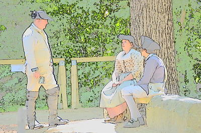 Colonial Man Digital Art - Colonials At Rest by Robert Nelson
