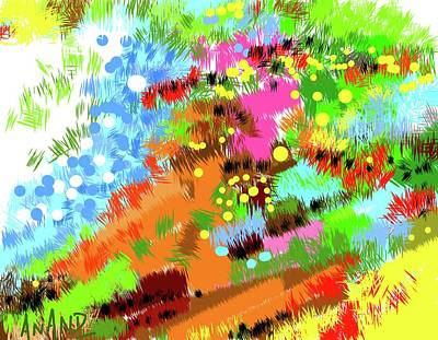 Digital Art - Color Abstraction-4 by Anand Swaroop Manchiraju