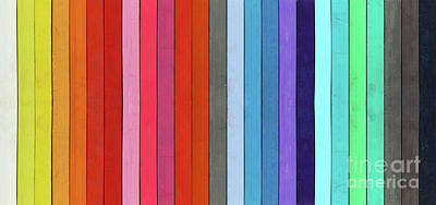 Color Range - Detail Of The Colored Pastels Art Print