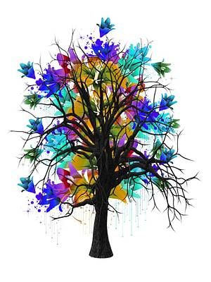 Beauty Mixed Media - Color Tree Collection by Marvin Blaine