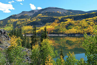 Photograph - Colorado Autumn Mountain Landscape by Cascade Colors