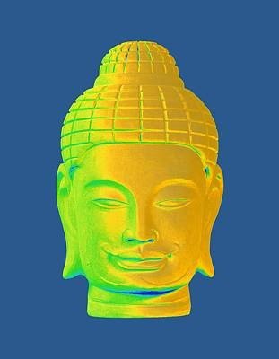Photograph - colorful Buddha - Khmer 3 by Terrell Kaucher