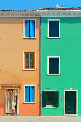 Photograph - Colorful Burano Closeup by Songquan Deng