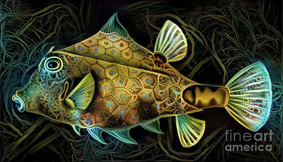 Fin Digital Art - Colorful Fish by Amy Cicconi