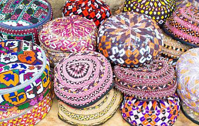 Colorful Hats Art Print by Tom Gowanlock