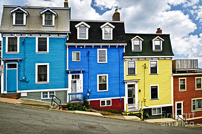 Colorful Houses In St. John's Newfoundland Art Print by Elena Elisseeva