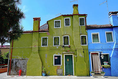 Photograph - Colorful Houses On The Island Of Burano, Italy by Richard Rosenshein
