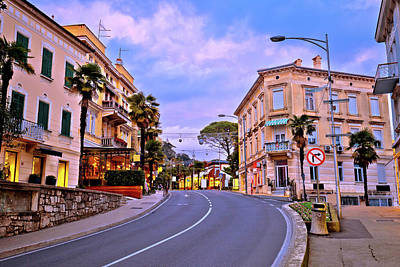 Photograph - Colorful Mediterranean Street Architecture Of Opatija by Brch Photography