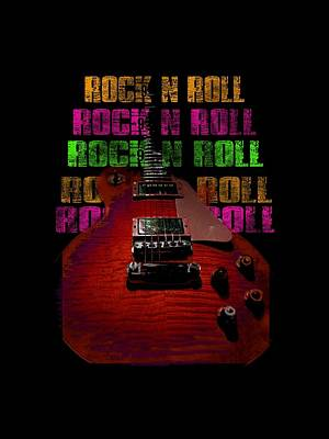 Photograph - Colorful Music Rock N Roll Guitar Retro Distressed  by Guitar Wacky