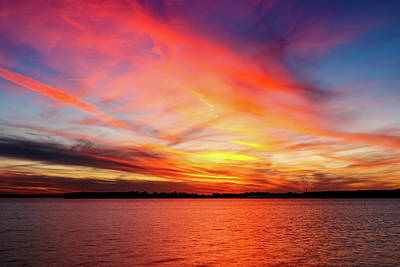 Photograph - Colorful Sunset by Doug Long