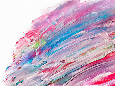 Creative Photograph - Colorful Watercolor Paint On Canvas. Super High Resolution And Quality Background by Michal Bednarek