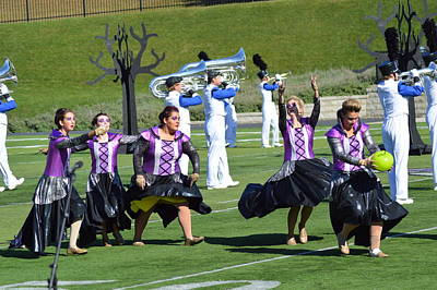 Photograph - Colorguard Competition by Michelle Hoffmann