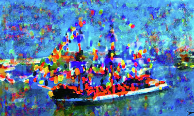 Pirate Ship Digital Art - Colors Of Gasparilla by David Lee Thompson