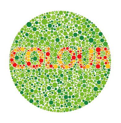 Colour Blindness Test Art Print