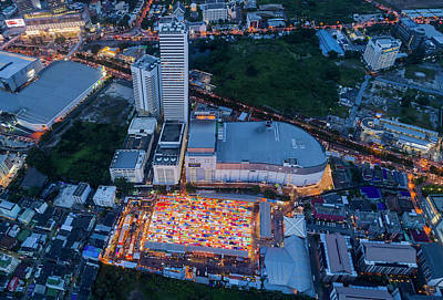 Photograph - Colourful Night Market Aerial View by Pradeep Raja PRINTS
