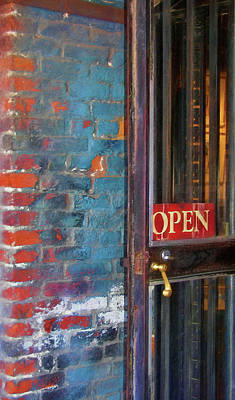 Photograph - Come On In, We're Open by JAMART Photography