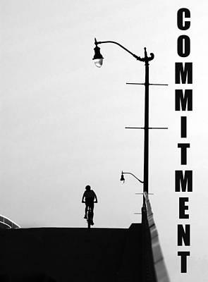 Bike Riding Digital Art - Commitment by David Lee Thompson
