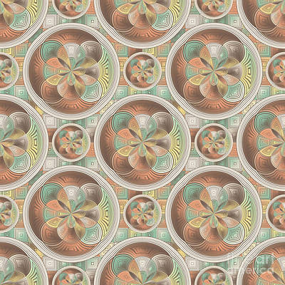 Algorithmic Digital Art - Complex Geometric Pattern by Gaspar Avila