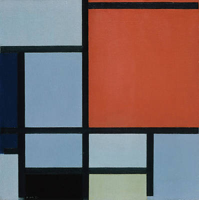 Square Painting - Composition by Piet Mondrian