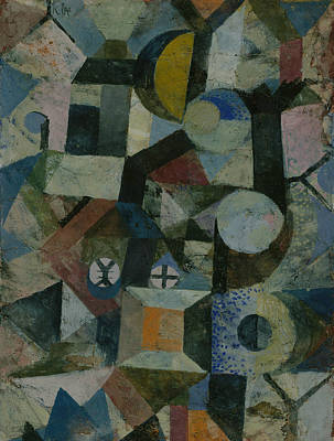 Painting - Composition With The Yellow Half-moon And The Y by Paul Klee
