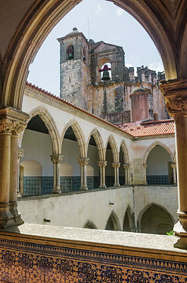 Convent Of Christ In Tomar Art Print