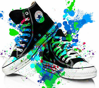 Tennis Mixed Media - Converse All Stars by Marvin Blaine