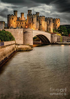 Battlements Photograph - Conwy Castle by Adrian Evans