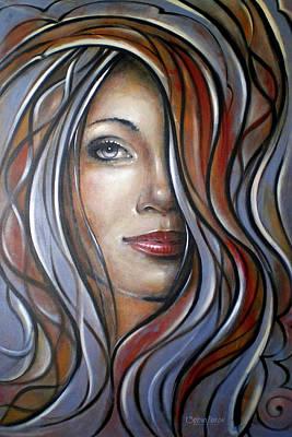 Cool Blue Smile 070709 Art Print by Selena Boron