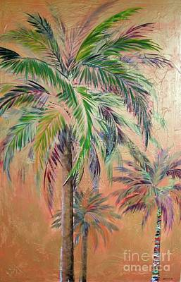 Painting - Copper Trio Of Palms by Kristen Abrahamson