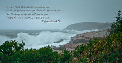 Photograph - 2 Corinthians4-18 by Paul Mangold